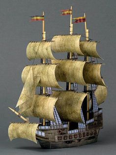 Free printable from Ravensblight - THE GHOST SHIP (a free paper model)