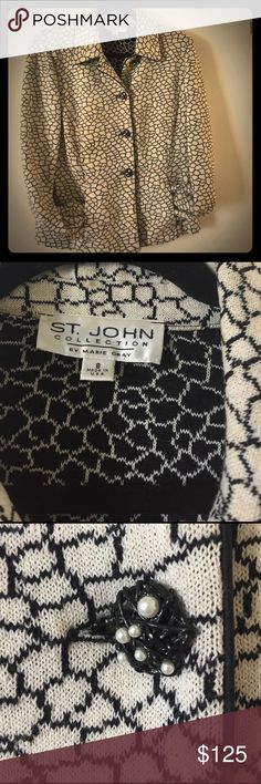 St John Collection by Marie Gray Blazer jacket Vintage blazer ... beautiful detail..some wear.... professionally dry cleaned..all buttons intact..small spot on left cuff St. John Jackets & Coats Blazers