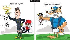 Charge do Dum (Zona do Agrião) sobre as classificações de Atlético e Cruzeiro pela Copa do Brasil (20/10/2016) #Charge #Victor #Galo #Cruzeiro #Atlético #Corinthians #Juventude #CopaDoBrasil #HojeEmDia