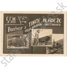 Stará pohľadnica Trať Mládeže, Banská Štiavnica