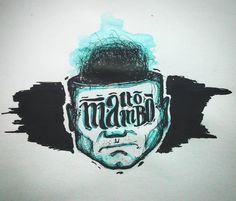 Alto mambo #drawings #draw #drawing #sketch #sketchbook #art #artwork #work #illustration #illustrator #watercolor # ink #pen #dot #man #lips #lettering #type #lettering #head