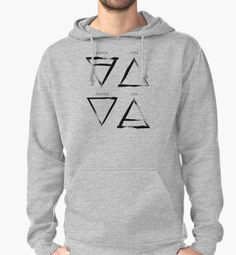 """""""Elements Symbols - Black Edition"""" Pullover Hoodies by Lidra   Redbubble"""