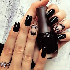 Fed onto Accent Nails Ideas Album in Hair and Beauty Category Best Nail Art Designs, Acrylic Nail Designs, Acrylic Nails, Prom Nails, Fun Nails, Lampe Uv Led, Nagellack Trends, Accent Nails, Gorgeous Nails