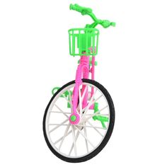 2.47$  Watch now - LeadingStar Plastic Green  Detachable Bike Toy Bicycle With Basket For Barbie Doll Great Gift Toys For Children Hot Selling   #buyonline