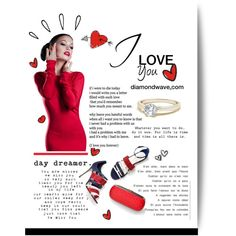 diamondwave.com by isatusia on Polyvore featuring moda, Sergio Rossi, Old Navy and diamondwave Sergio Rossi, Fashion Rings, The Dreamers, Old Navy, Love You, Waves, Bows, Lettering, Polyvore