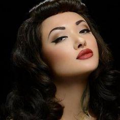 pin up make up | classic make up | Pin ups