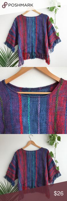 Vintage Vibrant poncho Description will be posted Sunday night. Not by this brand.vintage Reformation Tops
