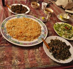 Omani style beef and mutton cooked with dried lemons and other local flavours.  photo: Barnita Biswas