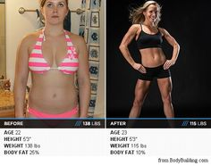 "This is what a 15% body fat drop looks like. You can ONLY achieve this by ignoring calories. You have to ""Go Beyond Calories"" and focus on two things, just two things. These two are... http://www.health-emark.com/go-beyond-calories-FREE-copy-PINTEREST.html"