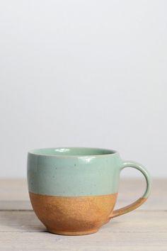 Dipped terracotta cup: seafoam