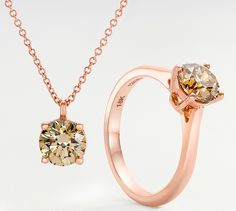 Sienna champagne diamond collection by Leibish & Co. Champagne Diamond, Rose Gold Jewelry, Diamonds, Flaws, Bling, Collection, Diamond