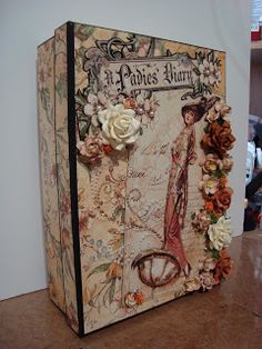 A box & mini album I made for my niece's bridal shower using G45 A Ladies Diary paper