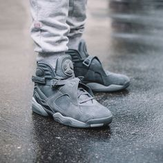 "Air Jordan 8 Retro Bg ""Cool Grey"""