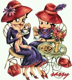 Red Hats, So cool ms betty boop Red Hat Club, Betty Boop Halloween, Animated Cartoon Characters, Red Hat Ladies, Red Hat Society, Popular Cartoons, Tea Art, Oui Oui, Red Hats
