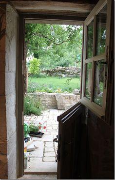 Dutch door and garden