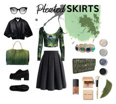 """""""Pleated peacock"""" by francescacalabrese ❤ liked on Polyvore featuring Chicwish, Vince, Windsor Smith, Old Trend, Mixit, Jimmy Choo, Louis Vuitton, NARS Cosmetics, Terre Mère and Bobbi Brown Cosmetics"""