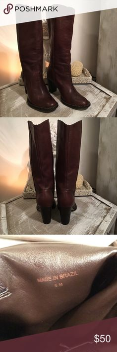 97cdd6071c6d3 Michael KORS brown Leather heeled boots sz 6 Beautiful brown leather KORS  Michael KORS leather heeled
