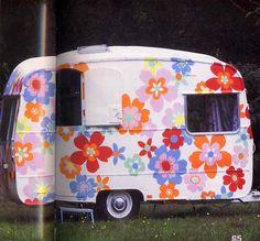 Cath Kidston Trailer/ Caravan - her home office!