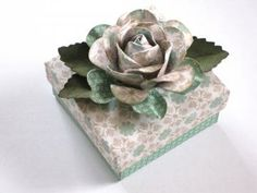 Origami Floral Mint Gift Box by cutiehandmade for $4.25