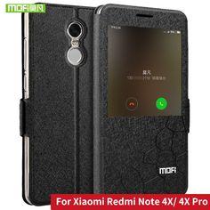 Xiaomi Redmi Note 4X case cover flip Leather open window silicon back Xiaomi RedMi Note 4X pro Case original Mofi hard funda