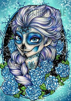 Day of the Dead Elsa Skeleton