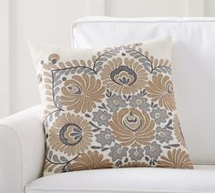 Bea Embroidered Pillow Cover