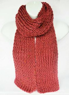 Pink boho knit scarf pink handmade scarf ladies wool scarf