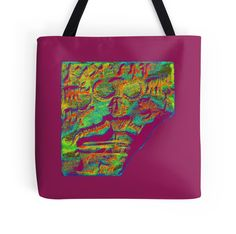 """Pasupatinath 9"" Tote Bags by indusdreaming 