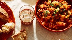 White beans braised with tomato (alubias blancas con tomate) recipe : SBS Food Prawn Dishes, Corn Dishes, Tapas Dishes, Easy Spanish Recipes, Spanish Rice Recipe, Spanish Side Dishes, Spanish Food, Rice And Corn Recipe, Roasted Capsicum
