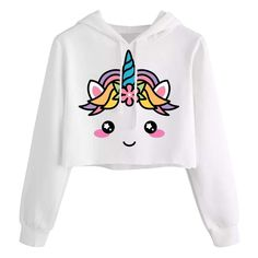 Buy Kids Crop Tops Girls Sweatshirts Cute Long Sleeve Hoodies Tops Fall Clothes - Picture 1 - online, more latest style of Girls' Fashion Hoodies & Sweatshirts sale at affordable price. Crop Tops For Kids, Girls Crop Tops, Cute Crop Tops, Girls Fashion Clothes, Teen Fashion Outfits, Fall Outfits, Cute Lazy Outfits, Kids Outfits Girls, Girls 4