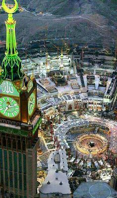 Cities of Mecca & Medina became the two Holy cities of Islam; from which Islamic thought & art was spread. Islamic Images, Islamic Pictures, Islamic Art, Mecca Madinah, Mecca Masjid, Mecca Wallpaper, Islamic Wallpaper, Masjid Haram, Motifs Islamiques