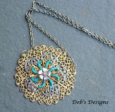 Necklaces  Vintage  Burst collection XL by debsdesigns401 on Etsy