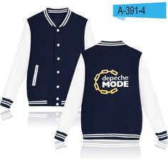 LUCKYFRIDAYF Depeche Mode Autumn Baseball Jacket Women Long Sleeve Fashion College Baseball Jackets Design Printed Casual Jacket