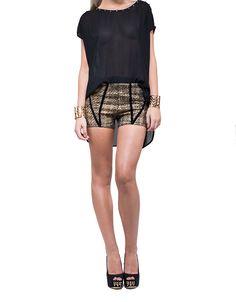 PANELLED SHORT - LUMIER 1 WINTER 2013 : New Arrivals : Bariano - Fashion Designer Australia