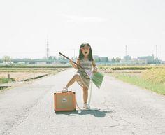 Nagano Toyokazu Stages Humorous Settings to Photograph Daughter | Inhabitots
