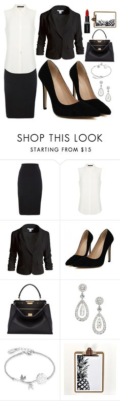 """""""Independent Business Woman"""" by carolynpence ❤ liked on Polyvore featuring Theory, Sans Souci, Fendi, Disney, Smashbox, awesome, beautiful and intelligent"""