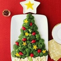 Christmas food ideas - not your basic holiday party veggie tray :)
