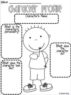 Permanently Primary - Character Profile Freebie! Get kids excited to write about their character