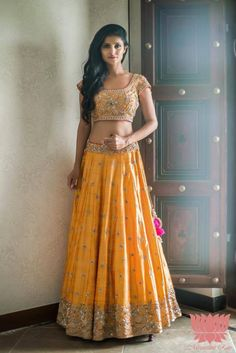 Everyone s favourite and our favourite mustard lehenga.