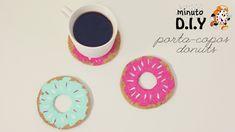 DIY - Faça você mesma Porta-copos Donuts. DIY Decor fácil, rápido e barato para decorar seu quarto. (Por: Carla Sant'Anna, blog Burguesinhas)