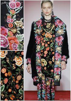 Naeem Khan - Fall 2017 - RTW - New York Fashion Week - Print & Pattern Highlight | Patternbank
