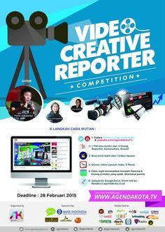 Video Creative Reporter Competition Deadline : 28 Februari 2015  http://eventsurabaya.net/video-creative-reporter-competition/