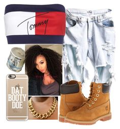"""""""tomboy ™"""" by timiabg ❤ liked on Polyvore featuring Timberland, Tommy Hilfiger and Casetify"""