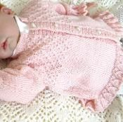 Baby girls jacket with patterned bodice - via @Craftsy