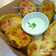 Baked Potato Halves - My favorite!! finally a good recipe =)