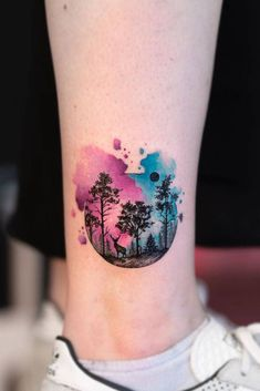 Incredible Tree Tattoo Ideas That Many can Inspire From Pine Tattoo, Oak Tree Tattoo, Deer Tattoo, Raven Tattoo, Tattoo Ink, Arm Tattoo, Top Tattoos, Small Tattoos, Tattoos For Guys