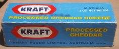 1970s - Kraft Australia - Processed Cheddar box. We ate this all the time with vegemite, naturally
