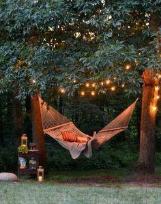 hammock and lights
