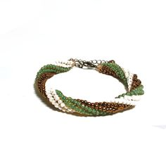 Womens Beaded Bracelet - Beaded Braided Bracelet For Women - Beaded Armlet - Gifts for Her Woven Bracelets, Seed Bead Bracelets, Daughter In Law Gifts, Bohemian Style Jewelry, Southwestern Jewelry, Adjustable Bracelet, Gifts For Her, Braids, Bronze
