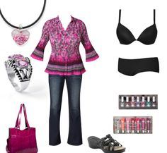 Courtesy of Fashion Bug, Cacique and Lane Bryant. Totally an outfit I would wear...pink & all